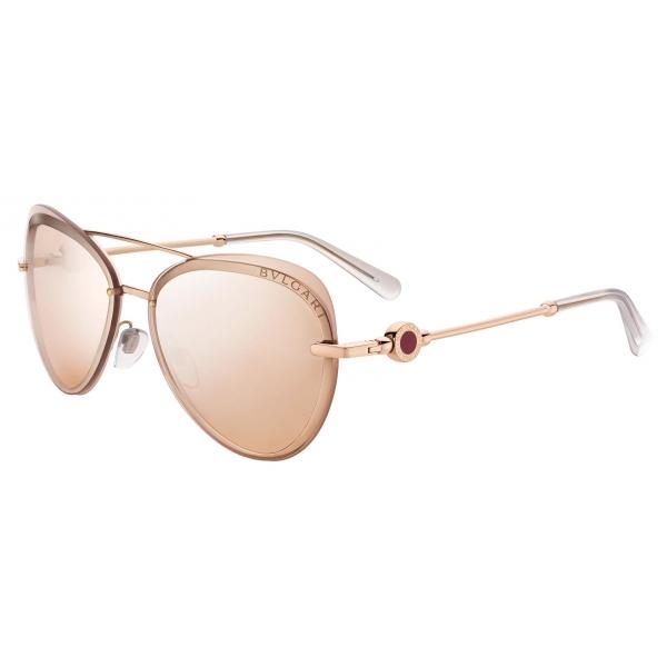 Bulgari - Bvlgari Bvlgari - On Me Metal Aviator Sunglasses - Rose Gold - Bvlgari Collection - Sunglasses - Bulgari Eyewear