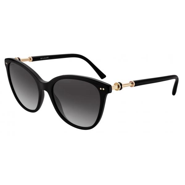 Bulgari - B.Zero1 - Cat-Eye Acetate Sunglasses - Black - B.Zero1 Collection - Sunglasses - Bulgari Eyewear