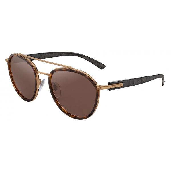 Bulgari - Bvlgari Bvlgari Man - Round Sunglasses - Gold Brown - Bvlgari Man Collection - Sunglasses - Bulgari Eyewear