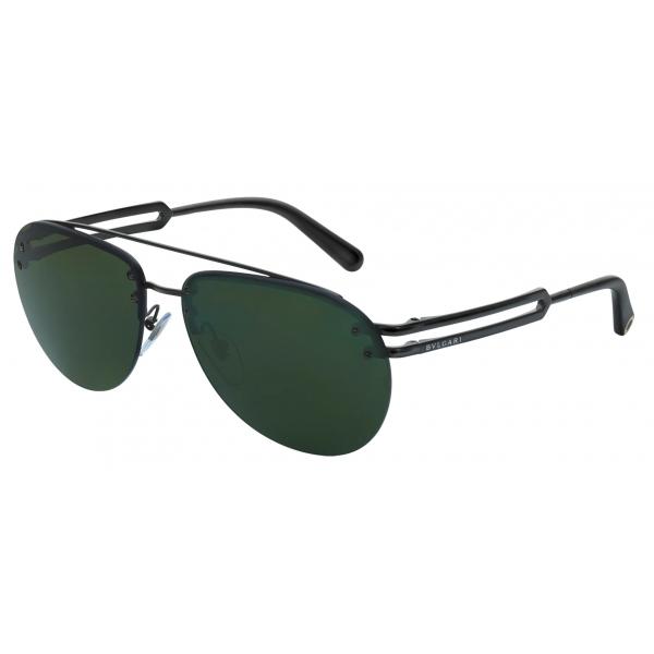 Bulgari - Bvlgari Bvlgari Man - Aviator Sunglasses - Black Green - Bvlgari Man Collection - Sunglasses - Bulgari Eyewear