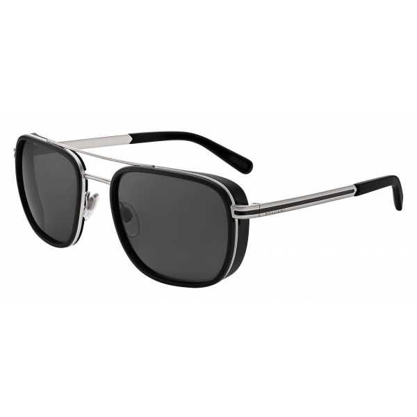 Bulgari - Bvlgari Bvlgari Man - Rectangular Sunglasses - Silver - Bvlgari Man Collection - Sunglasses - Bulgari Eyewear
