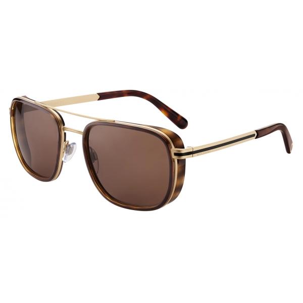 Bulgari - Bvlgari Bvlgari Man - Rectangular Sunglasses - Brown- Bvlgari Man Collection - Sunglasses - Bulgari Eyewear