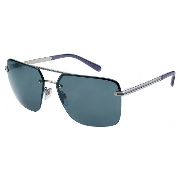 Bulgari - Bvlgari Bvlgari Man - Rectangular Sunglasses - Blue- Bvlgari Man Collection - Sunglasses - Bulgari Eyewear