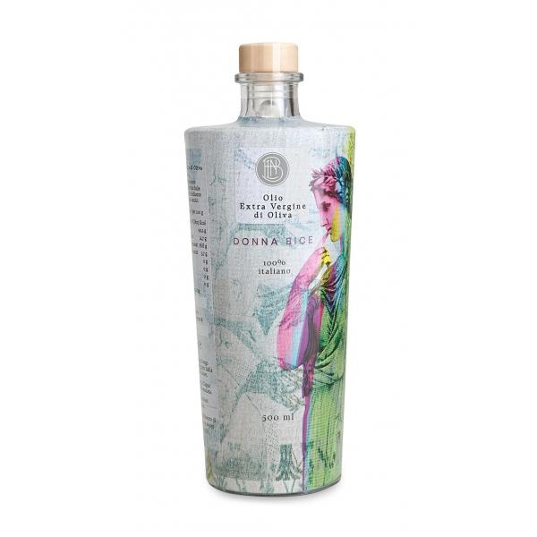 Olio le Donne del Notaio - Donna Bice - Bottiglia di Vetro  - Extravergine d'Oliva - Alta Qualità Italia - Abruzzo - 500 ml