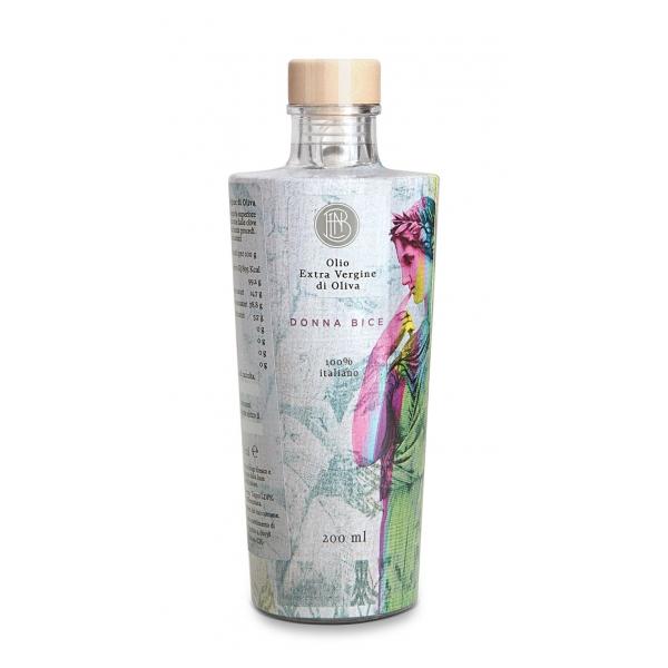 Olio le Donne del Notaio - Donna Bice - Bottiglia di Vetro  - Extravergine d'Oliva - Alta Qualità Italia - Abruzzo - 200 ml