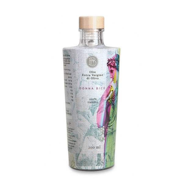 Olio le Donne del Notaio - Donna Bice - Glass Bottle - Extra Virgin Olive Oil - Artisan - Italian High Quality - 200 ml