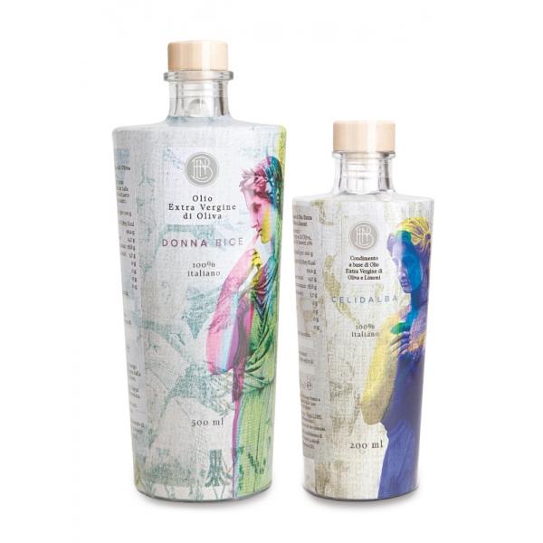 Olio le Donne del Notaio - Glass Box 1 - Glass Bottle - Extra Virgin Olive Oil - Artisan - Italian High Quality Oil - Abruzzo