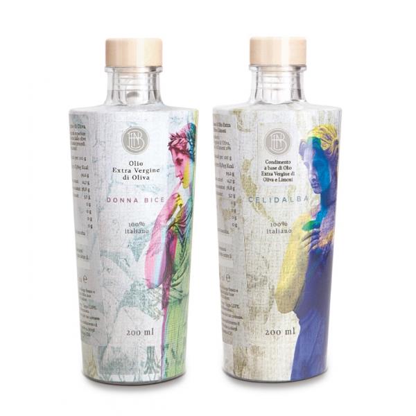 Olio le Donne del Notaio - Glass Box 2 - Glass Bottle - Extra Virgin Olive Oil - Artisan - Italian High Quality Oil - Abruzzo