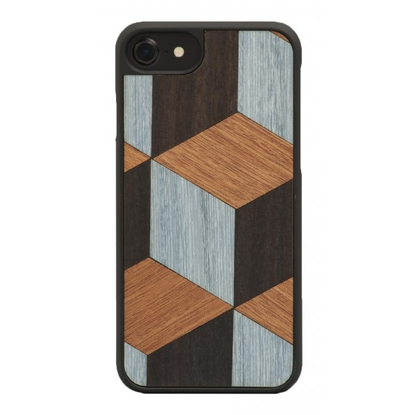 Wood'd - Block Cover - iPhone 8 / 7 - Cover in Legno - Classic Collection