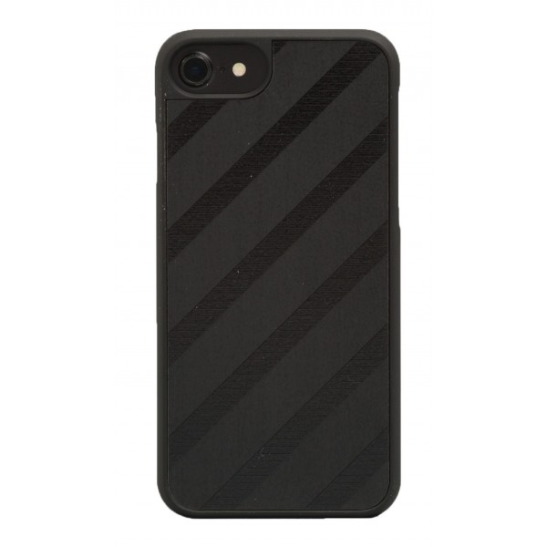 Wood'd - Black Regimental Cover - iPhone 8 / 7 - Cover in Legno - Classic Collection