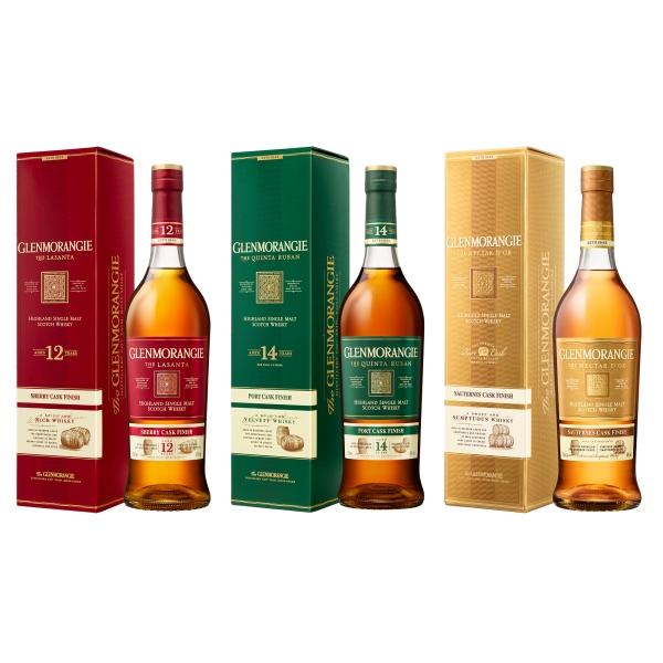 Glenmorangie - Lasanta + Quinta Ruban + Nectar d'Òr - Astucciato - Whisky - Exclusive Luxury Limited Edition - 700 ml