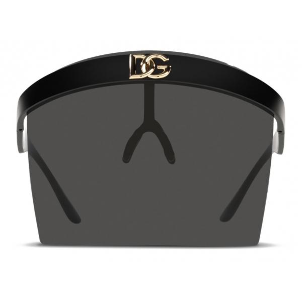 Dolce & Gabbana - Geometric Transparency Sunglasses - Black Grey - Dolce & Gabbana Eyewear