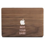 Wood'd - Not Your Babe Frassino - MacBook - Skin Legno - Type Collection