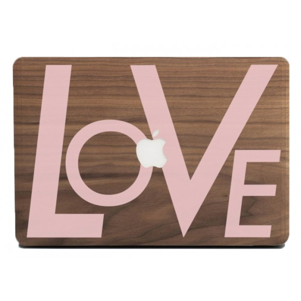 Wood'd - Love Pink Skin - MacBook - Wooden Skin - Type Collection