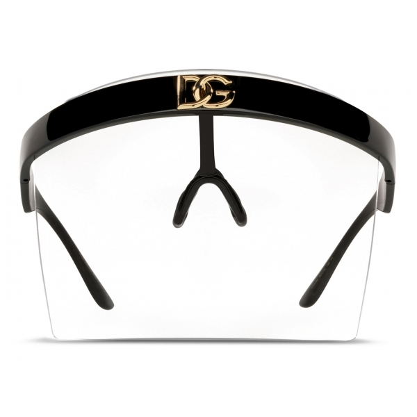 Dolce & Gabbana - Geometric Transparency Sunglasses - Black Transparent - Dolce & Gabbana Eyewear