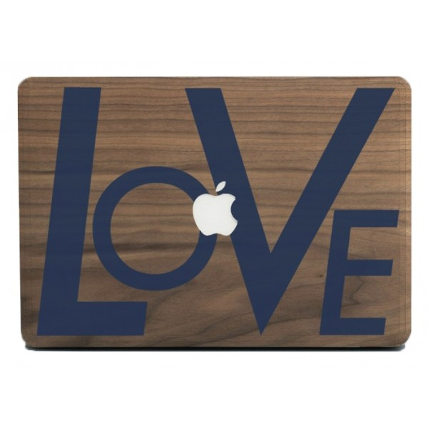 Wood'd - Love Blue Skin - MacBook - Wooden Skin - Type Collection