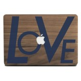Wood'd - Love Blue Frassino - MacBook - Skin Legno - Type Collection