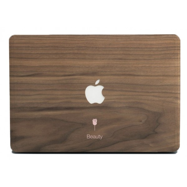 Wood'd - Beauty Skin - MacBook - Wooden Skin - Type Collection