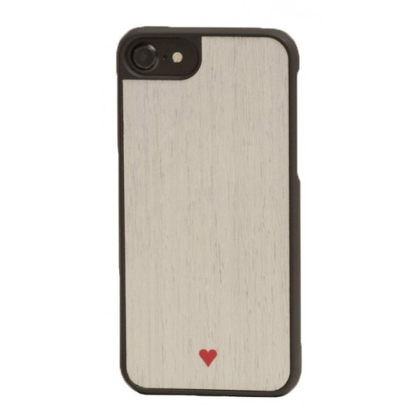 Wood'd - Heart White Cover - iPhone 8 / 7 - Cover in Legno - Type Collection