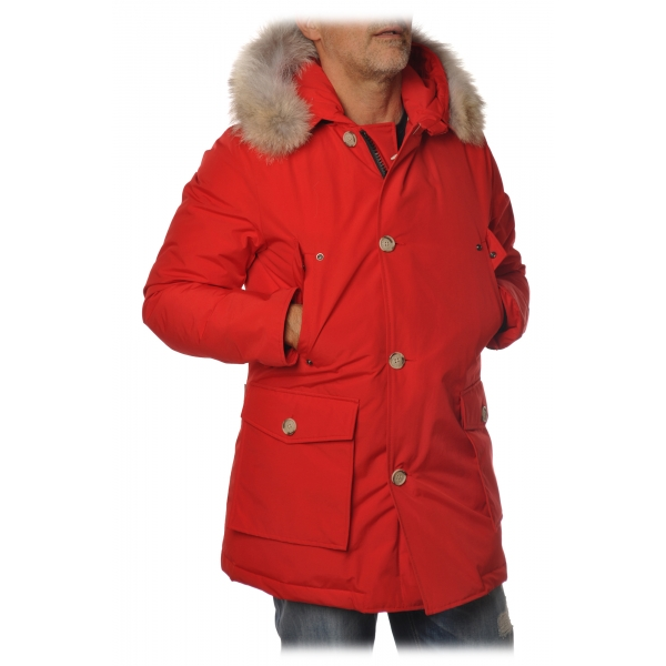 Woolrich - Parka With Detachable Fur - Red - Jacket - Luxury Exclusive Collection