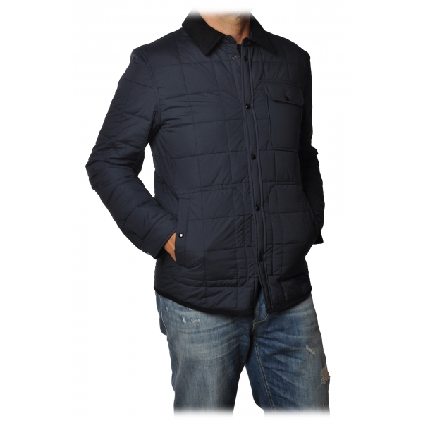 Woolrich - Shirt-Cut Jacket in Square Quilting - Blue - Jacket - Luxury Exclusive Collection
