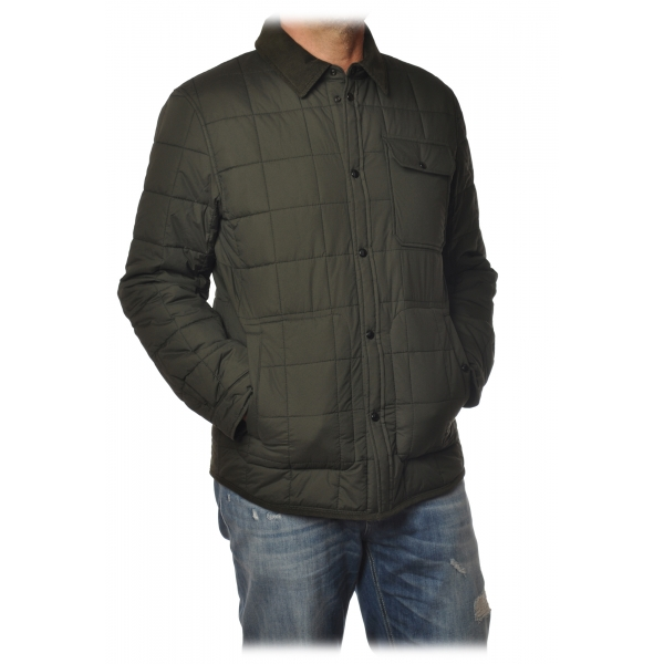 Woolrich - Shirt-Cut Jacket in Square Quilting - Green - Jacket - Luxury Exclusive Collection