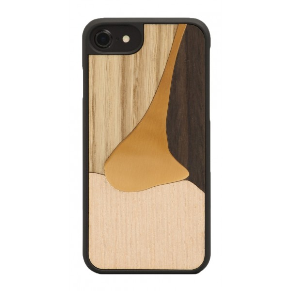 Wood'd - Bronzo Rosa Cover - iPhone 8 Plus / 7 Plus - Cover in Legno - Bronze Classics