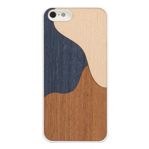 Wood'd - Inlay Blue Cover - iPhone 8 Plus / 7 Plus - Cover in Legno - Classic Collection
