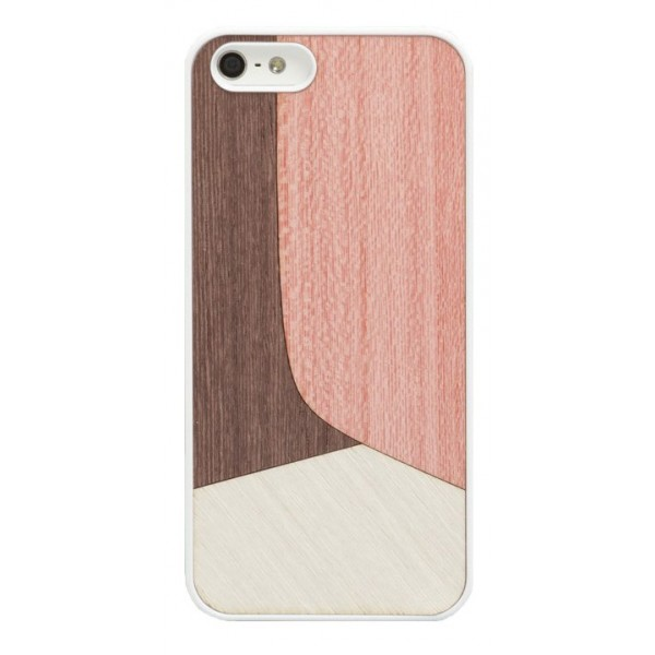 Wood'd - Inlay Pink Cover - iPhone 8 Plus / 7 Plus - Cover in Legno - Classic Collection