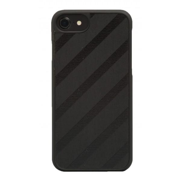 Wood'd - Black Regimental Cover - iPhone 8 Plus / 7 Plus - Cover in Legno - Classic Collection