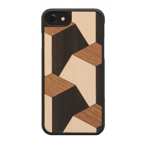 Wood'd - Pyramid Cover - iPhone 8 Plus / 7 Plus - Cover in Legno - Classic Collection