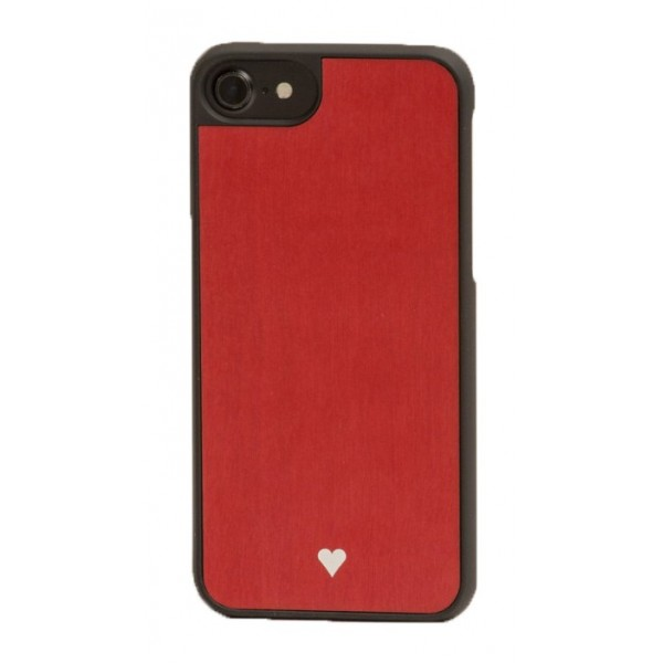Wood'd - Heart Red Cover - iPhone 8 Plus / 7 Plus - Cover in Legno - Type Collection