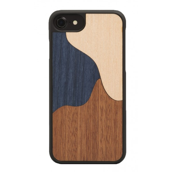 Wood'd - Inlay Blue Cover - Samsung S7 - Wooden Cover - Classic Collection