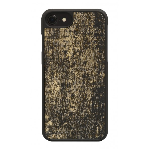 Wood'd - Gold Black Cover - Samsung S7 Edge - Wooden Cover - Vintage Collection