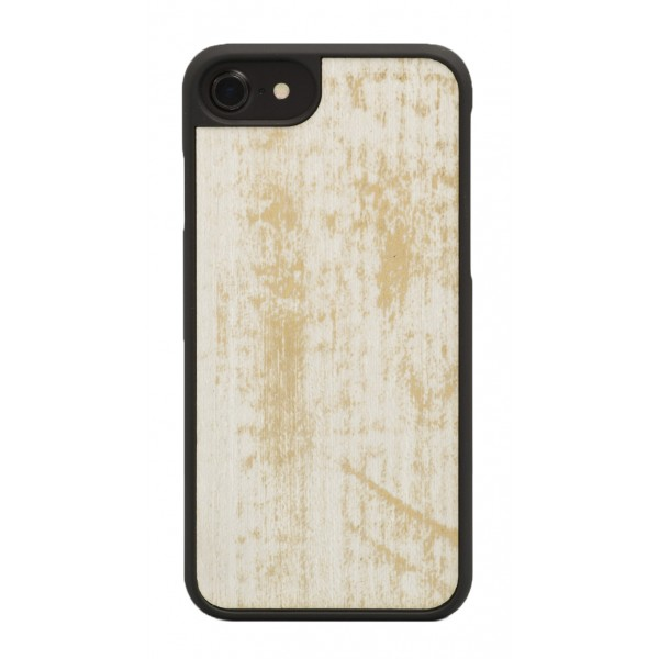 Wood'd - Gold White Cover - Samsung S7 Edge - Wooden Cover - Vintage Collection