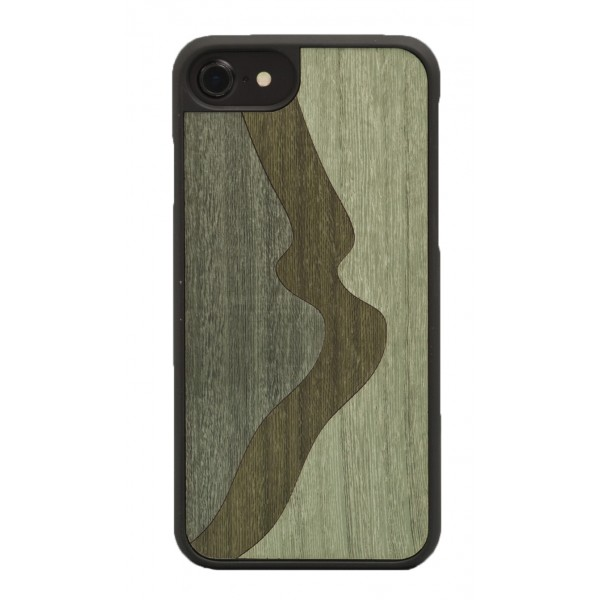 Wood'd - Inlay Green Cover - Samsung S7 Edge - Wooden Cover - Classic Collection