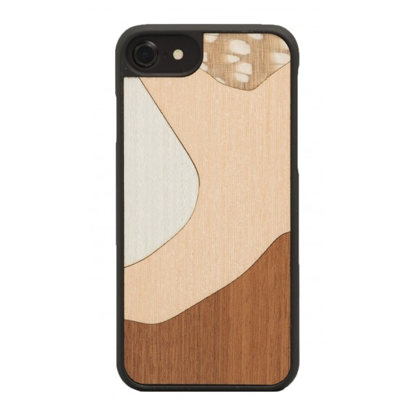 Wood'd - Inlay Mahogany Cover - Samsung S7 Edge - Wooden Cover - Classic Collection
