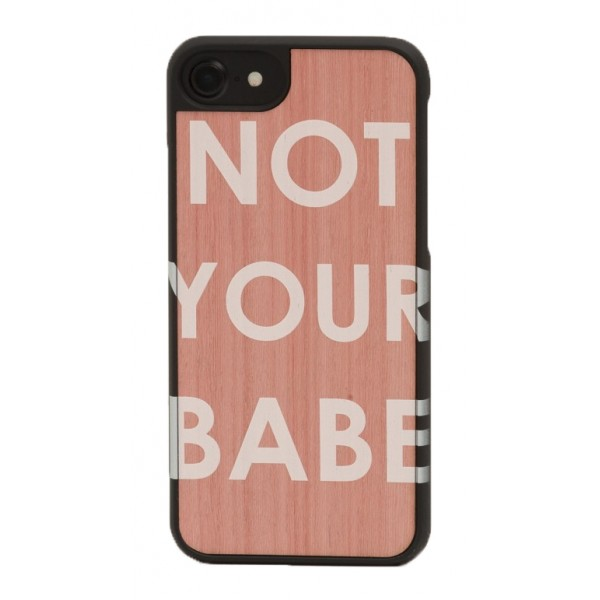 Wood'd - IWD Not Your Babe Cover - Samsung S7 Edge - Wooden Cover - Type Collection