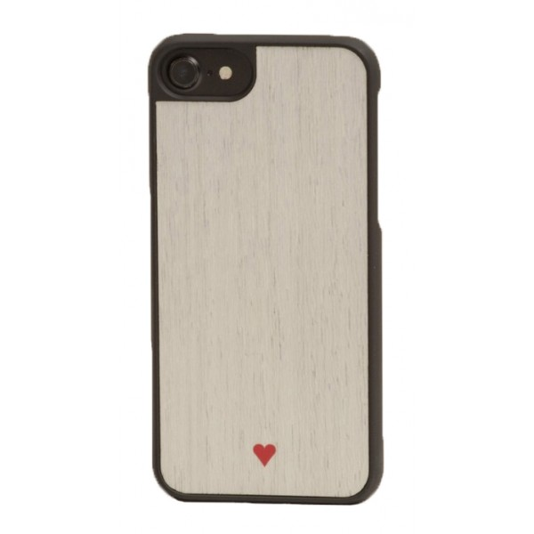 Wood'd - Heart White Cover - Samsung S7 Edge - Cover in Legno - Type Collection
