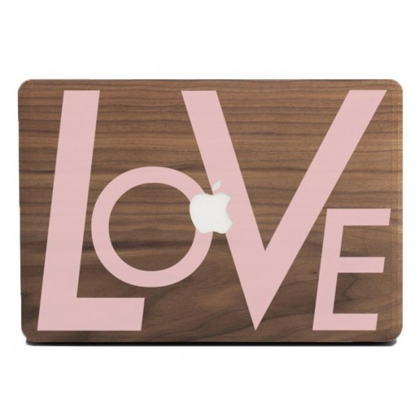 Wood'd - Love Pink Frassino - MacBook Air - Skin Legno - Type Collection