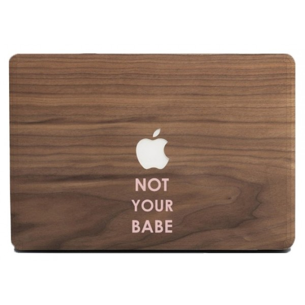 Wood'd - Not Your Babe Frassino - MacBook Pro - Skin Legno - Type Collection