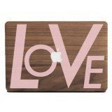Wood'd - Love Pink Skin - MacBook Pro - Wooden Skin - Type Collection