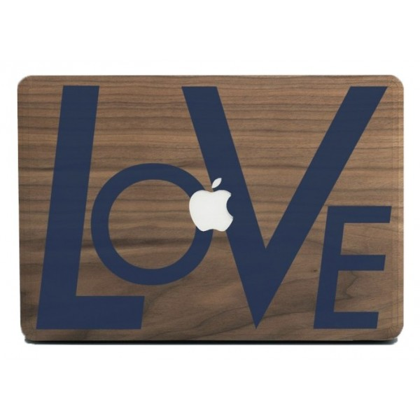 Wood'd - Love Blue Skin - MacBook Pro - Wooden Skin - Type Collection
