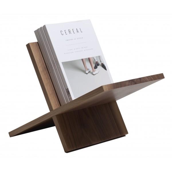Wood'd - Porta Riviste Noce - Desk Supplier - Wood'd Desk Collection