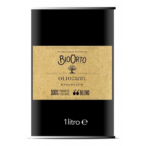 BioOrto - Blend Peranzana Ogliarola - Olio Extravergine di Oliva Italiano Biologico - 1 l