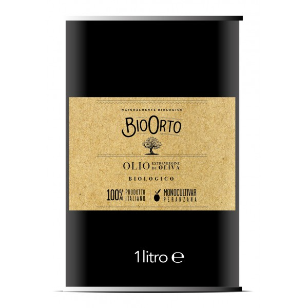 BioOrto - Monocultivar Peranzana - Organic Italian Extra Virgin Olive Oil - 1 l