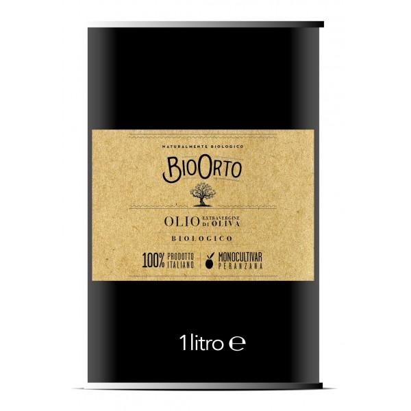 BioOrto - Monocultivar Peranzana - Olio Extravergine di Oliva Italiano Biologico - 1 l