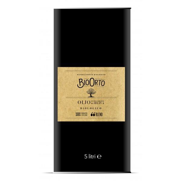 BioOrto - Blend Peranzana Ogliarola - Organic Italian Extra Virgin Olive Oil - 5 l