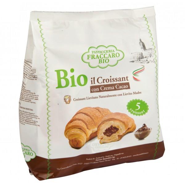 Pasticceria Fraccaro - Croissant Bio Farcito alla Crema al Cacao Senza Olio di Palma - Croissant Bio
