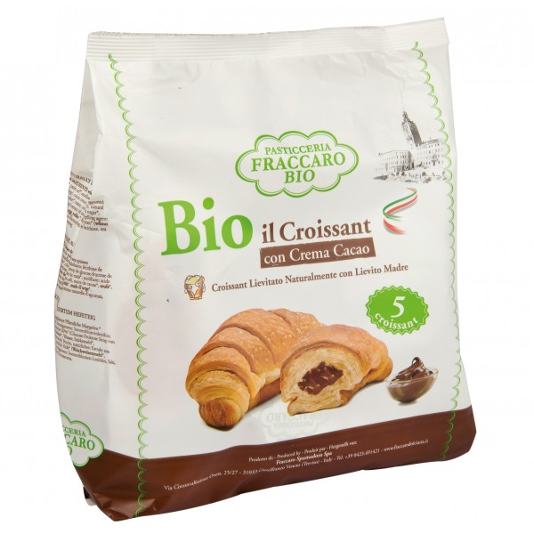 Pasticceria Fraccaro - Organic Croissant with Chocolate Cream Without Palma Oil - Organic Croissant - Fraccaro Spumadoro